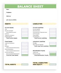 balance sheet template blank balance sheet template excel
