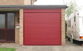 dark woodgrain roller garage door