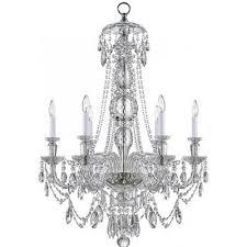 visual comfort rl5005cg ralph lauren daniela medium one tier chandelier in crystal