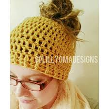 Crochet Bun Hat Free Pattern Custom 48 Crochet Messy Bun Hat Patterns