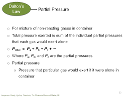 total pressure equation chemistry. dalton\u0027s law partial pressure o for mixture of non-reacting gases in container total equation chemistry