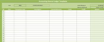 Accounting Ledger Templates Accounting General Ledger Templates Free Excel Spreadsheet