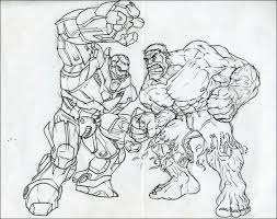 Hulkbuster has both power drain as well as power lock giving him a ton of control over the opponent's power bar and making fights fairly safe! Iron Man Hulkbuster Coloring Pages Page 1 Line 17qq Com