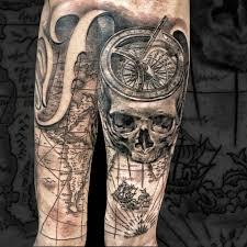 Skull Compass Bússola Map Tattoo Tattoos Tattoos Map Tattoos