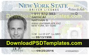 File Driving Template Psd York New License download Editable