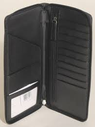 COACH Men s Heritage Embossed Large Black Travel Wallet - NEW F93274  248  B2D