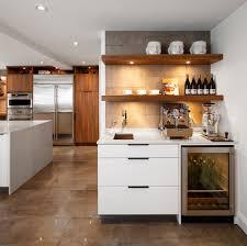 Zeitgenössische Kaffee Bar Küche Mit Wein Kühlschrank Und