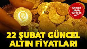 Çeyrek altın, gram altın canlı, anlık ne kadar, kaç TL oldu? 22 Şubat son  dakika güncel altın fiyatları!