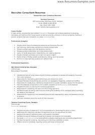 Recruiter Sample Resume It Recruiter Resume Resume Example Recruiter