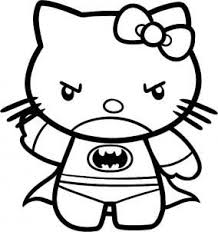 You can easily print or download them at your convenience. How To Draw Batman Hello Kitty Hello Kitty Tattoos Batman Coloring Pages Kitty