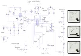 voltmeter clock voltmeter clock circuit diagram