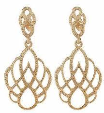 diamante crown chandelier earrings gold