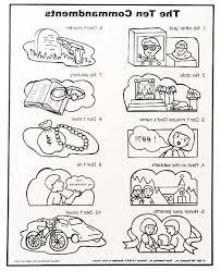 Ten Commandments Coloring Pages For Preschoolers 7sl6 10