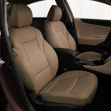 katzkin tan leather interior seat covers fits 2016 2016 hyundai sonata gls se