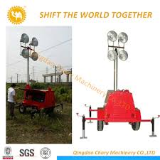 Light Tower For Sale China Diesel Generator Hand Push Mobile Light Tower For Sale