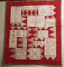 Machine Embroidery Patterns - Christmas Redwork Quilt - Sweet Pea & Emma's Christmas redwork quilt 6x10 in the hoop machine embroidery design -  Sweet Pea Adamdwight.com