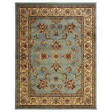 ottomanson traditional oriental light blue 5 ft x 7 ft area rug