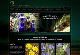 Essential Oil Website Design Phibee Aromatics Sedona Seo Web Design