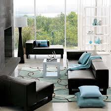 wonderful blue living room decorating ideas light blue wool modern rug square fabric cushion black