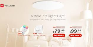 $64 with coupon for <b>Yeelight YLXD41YL 320mm</b> Smart LED Ceiling ...