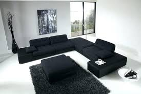 black sofa living room large for modern design with high ceiling ideas couch decor leather furniture