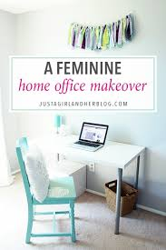 Office makeover ideas Decor Ideas Love This Feminine Home Office Makeover With Tons Of Beautiful And Functional Storage Ideas Click Betterdecoratingbible Fabulously Feminine Home Office Makeover Reveal Just Girl And