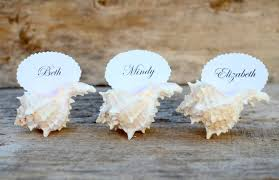 seashell beach wedding favor place cards chic dress uk Beach Themed Wedding Place Cards seashell place cards for wedding beach themed place cards for wedding