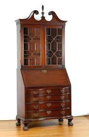 post antique secretary bookcase hutch value walnut cylinder top desk glass antique oak side by secretary desk