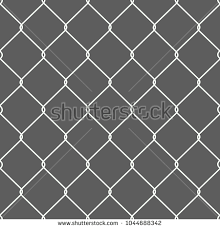 Rusty Chain Link Wire Mesh Fence Stock Vector 1044688342 Shutterstock