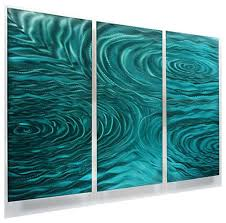 teal green 3 panel metal wall art contemporary home accent liquid ambiance on teal blue metal wall art with teal green 3 panel metal wall art contemporary home accent liquid
