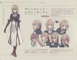 Kyoani Character Design Violet Evergarden Character Image 2707089 Zerochan