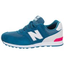 new balance kids 574. new balance kids 574 high visibility running shoes - teal/white