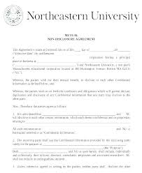 Nda Form Template Non Disclosure Agreement Form Template