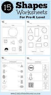 Pre K Worksheets Shapes - Checks Worksheet