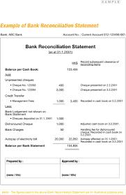 Bank Reconciliation Statement Templates Templates Resume