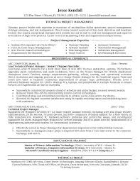 Sample Project Management Resume Template Sample