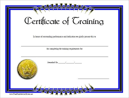 Free Printable Perfect Attendance Certificate Template Magnificent Blank Training Certificate Template Free Training Certificate