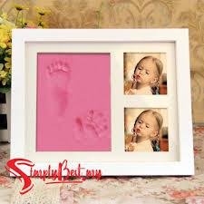 senarai harga simplybest baby clay handprint footprint memorable photo frame mold kit baby shower gift decoration new mum new born gifts terkini di malaysia