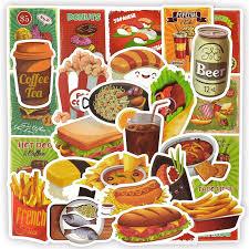 <b>50 PCS food drink</b> personality graffiti stickers stickers on the laptop ...