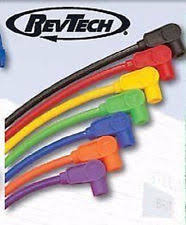 revtech motorcycle electrical and ignition dyna spark plug wires hi pro 8mm black harley fxd 2000 2007 revtech