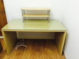 office ikea malm desk with glass top