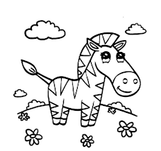 Small Picture Beautiful Zebra Coloring Page Download Print Online Coloring