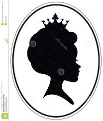 Stock Illustration Girls Head Classic Afro Alike Haircut Crown Black