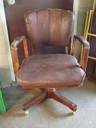 leather antique wood office chair leather antique. Old Wood And Leather Office Chair By Sikes Co. Antique