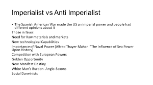 imperialism ppt imperialist vs anti imperialist