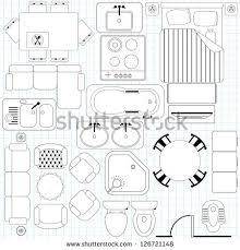 furniture for floor plans. Outline Vector Of Simple Furniture Plan, Floor Plan Symbol As Architecture Design Elements. A For Plans