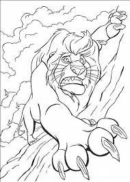 Mufasa In Pericolo Disegni Da Colorare Gratis Il Re Leone Disegni