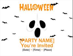 Free Halloween Birthday Invitation Templates Invitations Office Com