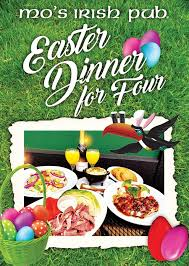 Apart from christmas and st. Pre Order Your Easter Dinner Mo S Irish Pub Vintage Park Facebook