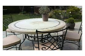 close 49 63 round outdoor patio table stone